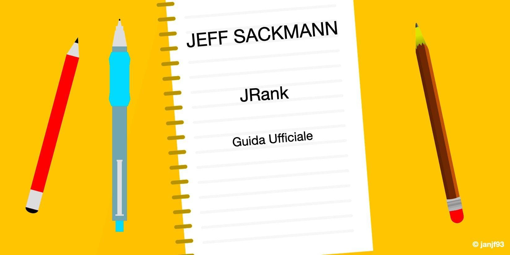 Guida ufficiale al mio sistema di classifica JRank - settesei.it